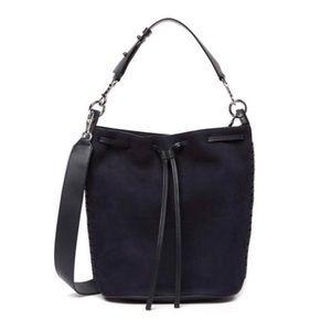 All Saints Ray Nubuck Leather Bucket Tote Bag